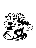 Ambiance Sticker Vinilo Decorativo I Love Coffee