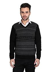 Bravezi Full Sleeves Woollen V-neck Sweater