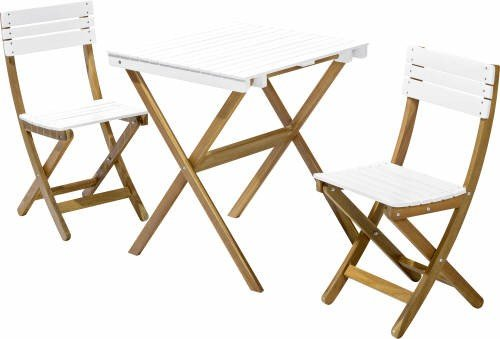 holz gartenm bel set tisch 65x65cm 2 preisvergleich shops tests 4894356324905. Black Bedroom Furniture Sets. Home Design Ideas