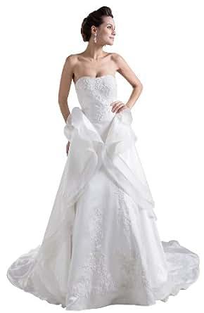 Herafa Wedding Dress Elegant NOw35498 Amazon Fashion