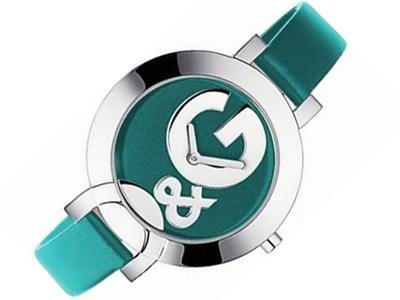 D & G Ladies Hoop-La Quartz Analogue Watch DW0665 with Teal Dial, Stainless Steel Case and Teal Silicon Strap
