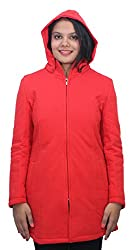 Romano Premium Red Hooded Warm Winter Zipper Jacket for Women