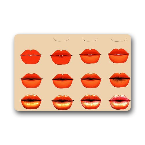 "Anhome Print Sexy Lips Red Gradual Change Doormats 23.6""X 15.7"" back-926348"
