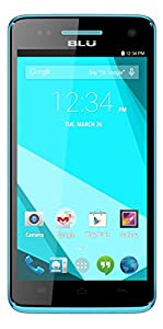 BLU Studio 5.0 C HD Quad Core, Android 4.4 KK, 4G HSPA+, 8MP Camera - Unlocked Cell Phones - Blue