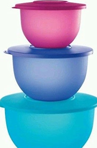 tupperware-impressions-classic-bowl-set-of-3-in-cool-aqua-lupine-and-radish