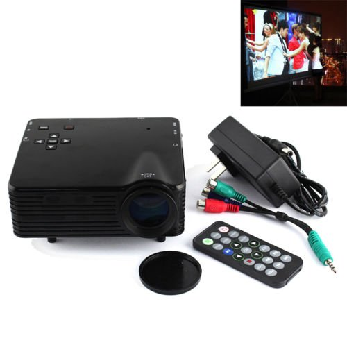 Great Deal 1080P Led Home Theater Multimedia Lcd Game Projector Av/Vga/Sd/Usb/Hdmi