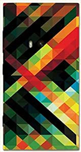 Brilliant multicolor printed protective REBEL mobile back cover for Nokia Lumia 920 D.No.N-L-14267-N920