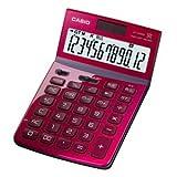 カシオ計算機 デザイン電卓 12桁 ジャストタイプ レッド JF-Z200RD-N