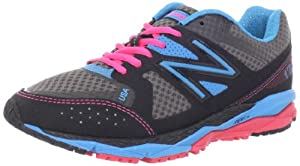 New Balance Women's W1290 Running Shoe,Black/Blue,9 D US