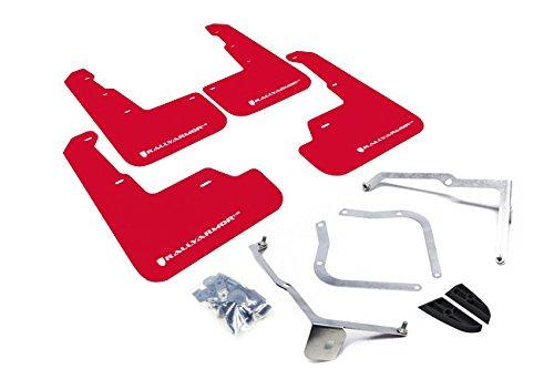 Rally Armor 15+ Subaru WRX & STi Sedan Only Red Mud Flap w/ White Logo (Subaru Wrx Mud Flaps compare prices)