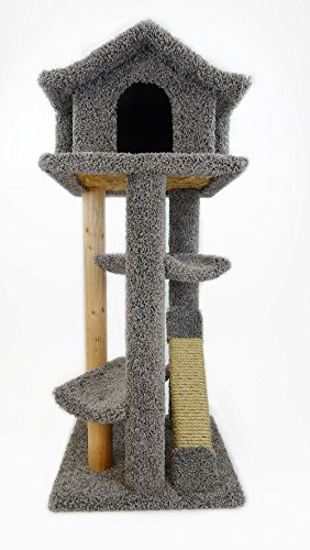 New Cat Condos Premier Large Cat Pagodas Tree, Gray