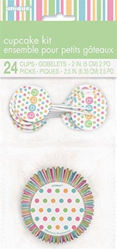 Pastel Baby Shower Cupcake Kit for 24
