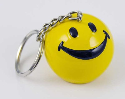 Keyring Smiley Face Yellow 3x3cm