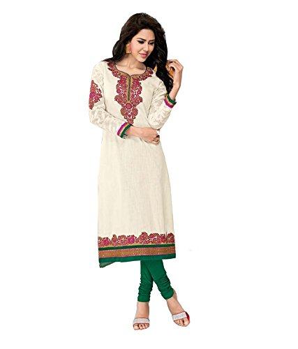 ISHIN Slub linen Cotton Off White kurti_L