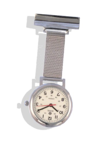 Royal London Unisex Luminous Stainless Steel Nurses Fob Watch 20067-01