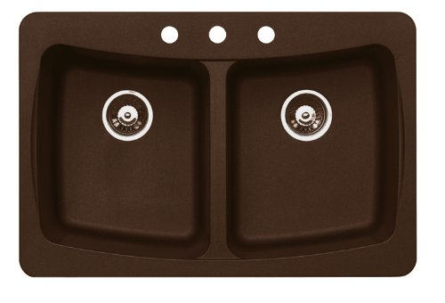 Pegasus AL20MC Granite Double Bowl Kitchen Sink (Metallic Chocolate)