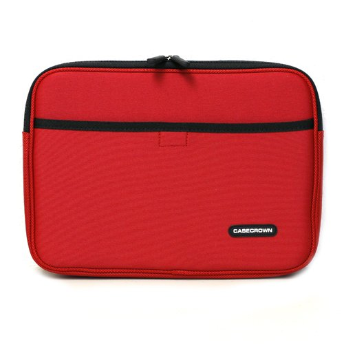CaseCrown Double Memory Foam Neoprene Netbook Sleeve w/Front Pocket (Red) for the Apple iPad