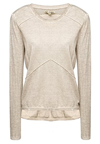 khujo -  Maglione  - Basic - Maniche lunghe  - Donna taupe (277LT-TAUP) 44