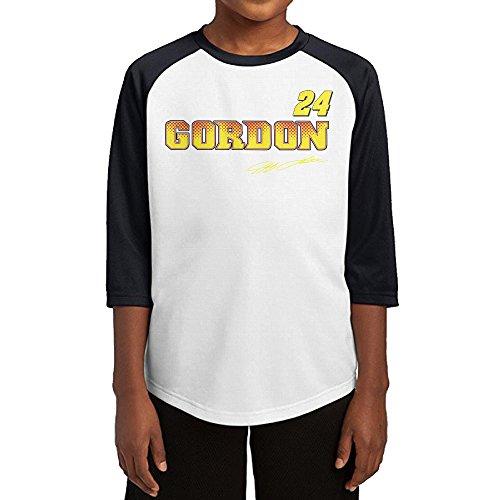 [GUYT Youth Boys Jeff Gordon-nascar Raglan 3/4 Sleeve T-Shirt Black Size L] (Nascar Tony Stewart Costumes)