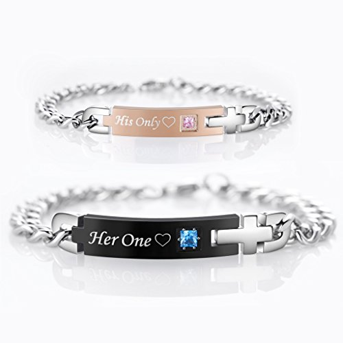 AmorFeel-His-Only-Her-One-Stainless-Steel-Matching-Bracelets-for-Couple