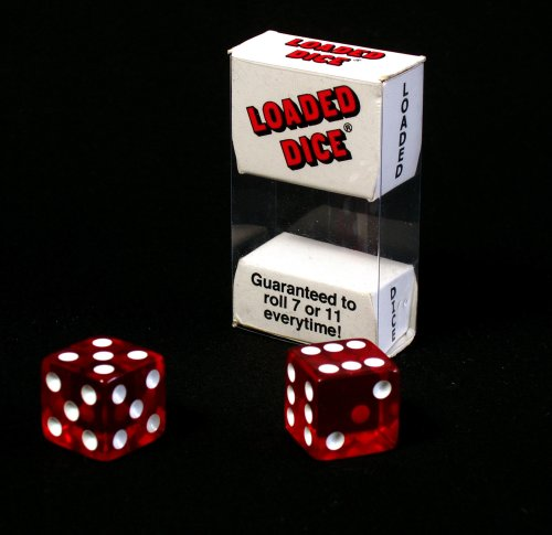 1 X Transparent Loaded Dice (2)