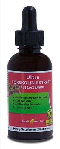 Ultra Forskolin Extract Fat Loss Drops – Fast Absorbing Liquid – 100 percent Natural Weight Loss Supplement