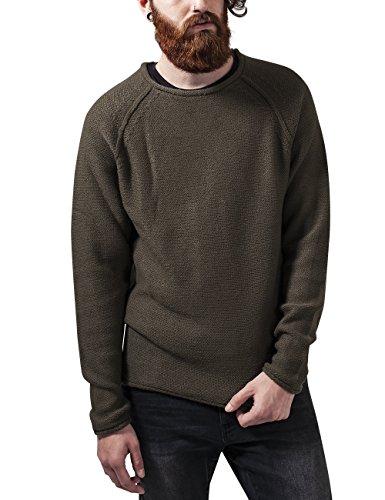 Urban Classics Raglan Wideneck Sweater, Felpa Uomo, Grün (Olive 176), Medium