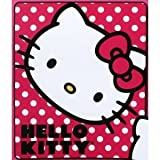 Hello Kitty Polka Dot Fleece Throw Blanket 50 x 60