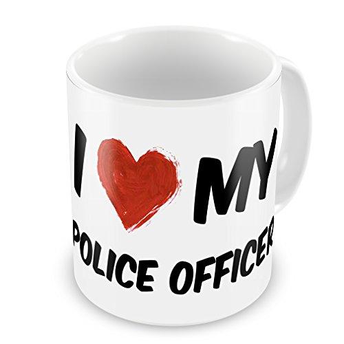 Coffee Mug I Love My Police Officer - Neonblond