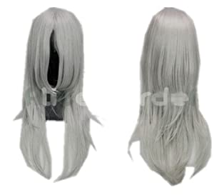 Mix Silver and Gray Long Final Fantasy COS wig