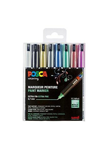 posca-set-de-8-marqueurs-pc1mr-pte-calibree-extra-fine-couleurs-metallisees