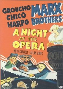 movie poster - A Night at the Opera - Groucho, Chico, Harpo - Marx Brothers