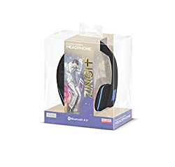 ZINGit SoftFit Dual Paring Bluetooth HeadPhone with Mic Noise Cancellation Stereo Sound Quality Compatible with iPhones iOS Devices Samsung Sony HTC and other Android Devices