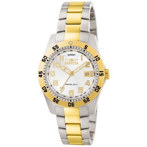 Invicta Men's 6693 II Collection 18k Gold-Plated and Stainless Steel White Dial Watch