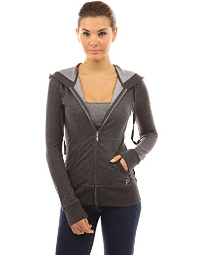 pattyboutik-women-s-hoodie-pocket-zip-up-jacket-heather-dark-gray-m-