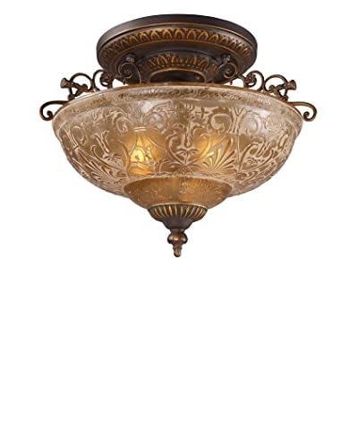 Artistic Lighting Restoration 3-Light 19 Semi-Flush Mount, Golden Bronze As You See