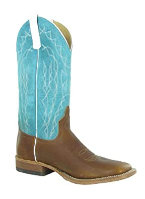 Anderson Bean Western Boots Mens Square Toe 13 D Briar Teal S1111