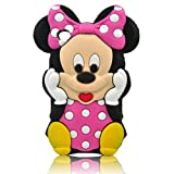 Disney 3D Cute Soft Silicone Cover Cases for Ipod Touch 4th generation (Mickey mouse Pink-11)