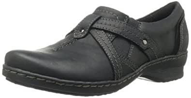 Clarks Women's Ideo Chilly Loafer,Black,6.5 W US