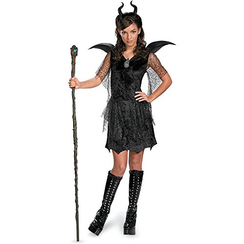 Maleficent Black Gown Deluxe Teen Costume - 7-9