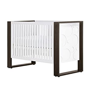 Nurseryworks Aerial Circle/Dark Rails 3 in 1 Convertible Crib