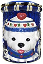 Bamboo Studios 1 Holiday Pooch Cookie Jar 7-12-Inch by 6-12-Inch