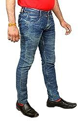 JCTex Men's blue silver arrow green/blue slim fit Jeans