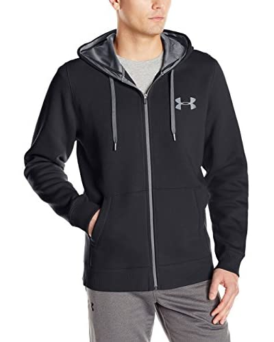 Under Armour Sudadera con Cierre Ua Rival Cotton Full Zip Negro
