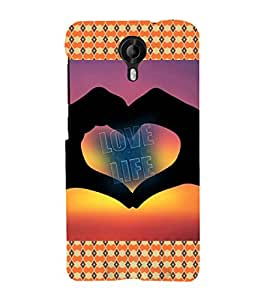 ifasho Designer Phone Back Case Cover Micromax Canvas Nitro 3 E455 ( Black White Orange Colorful Pattern Design )