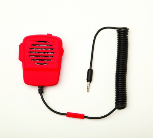 Red Walkie Talkie Microphone And Speaker For Smart Phones