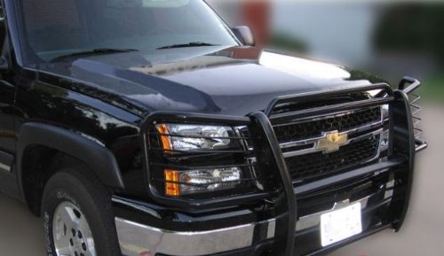 2003 2004 2005 2006 2007 Chevy Silverado 3500 HD (2007 Classic) Black Modular Grille Guard Brush Nudge Push Bar (Brush Guard For Chevy Silverado compare prices)