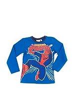 Fantasia Camiseta Manga Larga Spiderman (Azul)