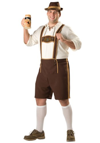 Incharacter Mens Bavarian German Beer Guy Fest Lederhosen Holiday Costume
