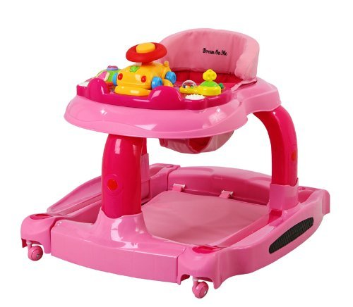Baby/Infant/Child/Kid Dream On Me 2 in 1 Baby Tunes Musical Activity Walker and Rocker, Pink Newborn Gear